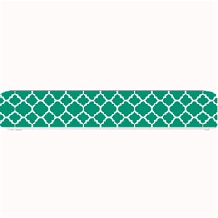 Emerald Green Quatrefoil Pattern Small Bar Mat by Zandiepants