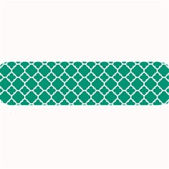 Emerald Green Quatrefoil Pattern Large Bar Mat by Zandiepants