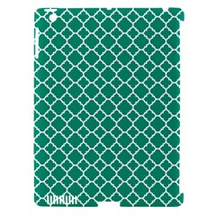 Emerald Green Quatrefoil Pattern Apple Ipad 3/4 Hardshell Case (compatible With Smart Cover) by Zandiepants