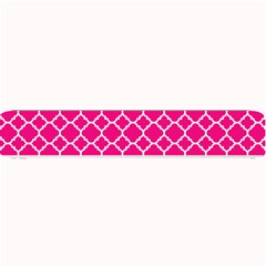 Hot Pink Quatrefoil Pattern Small Bar Mat by Zandiepants
