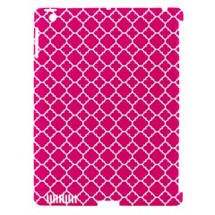 Hot Pink Quatrefoil Pattern Apple Ipad 3/4 Hardshell Case (compatible With Smart Cover) by Zandiepants