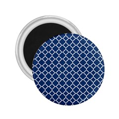 Navy Blue Quatrefoil Pattern 2 25  Magnet by Zandiepants