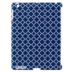 Navy Blue Quatrefoil Pattern Apple Ipad 3/4 Hardshell Case (compatible With Smart Cover) by Zandiepants