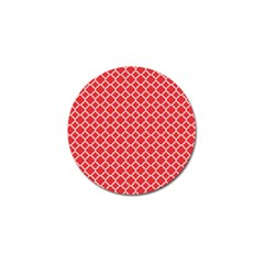 Poppy Red Quatrefoil Pattern Golf Ball Marker (4 Pack) by Zandiepants