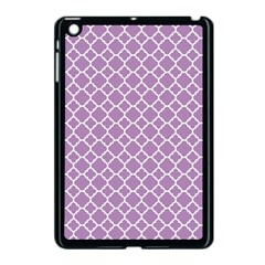 Lilac Purple Quatrefoil Pattern Apple Ipad Mini Case (black) by Zandiepants