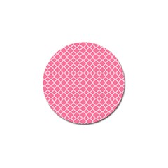 Soft Pink Quatrefoil Pattern Golf Ball Marker (10 Pack) by Zandiepants