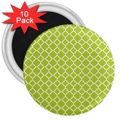 Spring Green Quatrefoil Pattern 3  Magnet (10 Pack) by Zandiepants