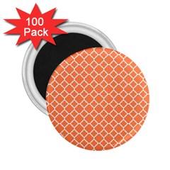Tangerine Orange Quatrefoil Pattern 2 25  Magnet (100 Pack)  by Zandiepants
