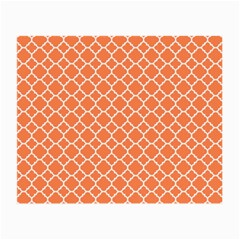 Tangerine Orange Quatrefoil Pattern Small Glasses Cloth by Zandiepants