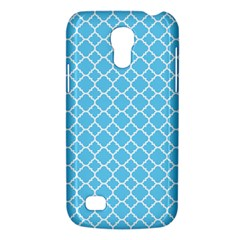 Bright Blue Quatrefoil Pattern Samsung Galaxy S4 Mini (gt I9190) Hardshell Case  by Zandiepants