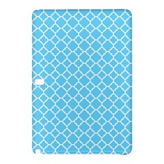 Bright Blue Quatrefoil Pattern Samsung Galaxy Tab Pro 10 1 Hardshell Case by Zandiepants