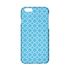 Bright Blue Quatrefoil Pattern Apple Iphone 6/6s Hardshell Case by Zandiepants