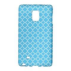 Bright Blue Quatrefoil Pattern Samsung Galaxy Note Edge Hardshell Case by Zandiepants
