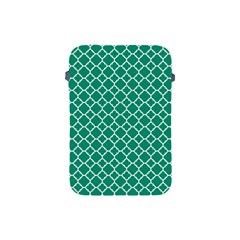 Emerald Green Quatrefoil Pattern Apple Ipad Mini Protective Soft Case by Zandiepants