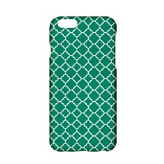 Emerald Green Quatrefoil Pattern Apple Iphone 6/6s Hardshell Case by Zandiepants
