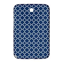 Navy Blue Quatrefoil Pattern Samsung Galaxy Note 8 0 N5100 Hardshell Case  by Zandiepants
