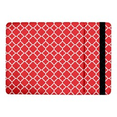 Poppy Red Quatrefoil Pattern Samsung Galaxy Tab Pro 10 1  Flip Case by Zandiepants
