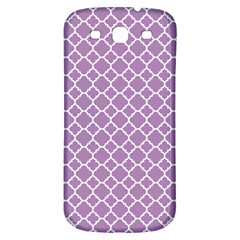 Lilac Purple Quatrefoil Pattern Samsung Galaxy S3 S Iii Classic Hardshell Back Case by Zandiepants