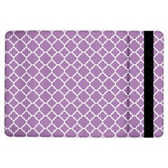 Lilac purple quatrefoil pattern Apple iPad Air Flip Case by Zandiepants