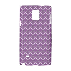 Lilac Purple Quatrefoil Pattern Samsung Galaxy Note 4 Hardshell Case by Zandiepants