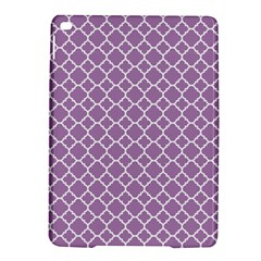 Lilac Purple Quatrefoil Pattern Apple Ipad Air 2 Hardshell Case by Zandiepants
