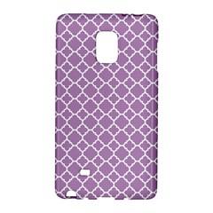Lilac purple quatrefoil pattern Samsung Galaxy Note Edge Hardshell Case by Zandiepants