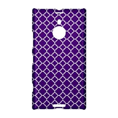 Royal Purple Quatrefoil Pattern Nokia Lumia 1520 Hardshell Case by Zandiepants