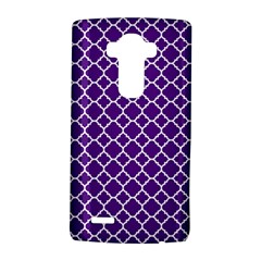 Royal Purple Quatrefoil Pattern Lg G4 Hardshell Case by Zandiepants