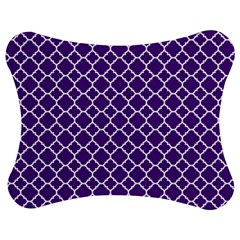Royal Purple Quatrefoil Pattern Jigsaw Puzzle Photo Stand (bow) by Zandiepants