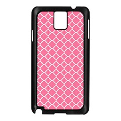 Soft Pink Quatrefoil Pattern Samsung Galaxy Note 3 N9005 Case (black) by Zandiepants