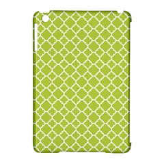 Spring Green Quatrefoil Pattern Apple Ipad Mini Hardshell Case (compatible With Smart Cover) by Zandiepants