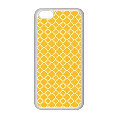 Sunny Yellow Quatrefoil Pattern Apple Iphone 5c Seamless Case (white) by Zandiepants