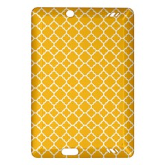 Sunny Yellow Quatrefoil Pattern Amazon Kindle Fire Hd (2013) Hardshell Case by Zandiepants
