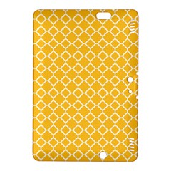 Sunny Yellow Quatrefoil Pattern Kindle Fire Hdx 8 9  Hardshell Case by Zandiepants