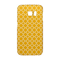 Sunny Yellow Quatrefoil Pattern Samsung Galaxy S6 Edge Hardshell Case by Zandiepants