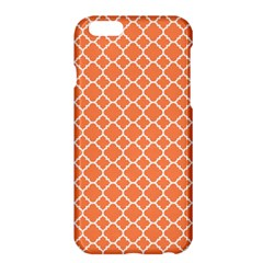 Tangerine Orange Quatrefoil Pattern Apple Iphone 6 Plus/6s Plus Hardshell Case by Zandiepants