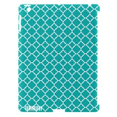 Turquoise Quatrefoil Pattern Apple Ipad 3/4 Hardshell Case (compatible With Smart Cover) by Zandiepants