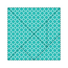 Turquoise Quatrefoil Pattern Acrylic Tangram Puzzle (6  X 6 ) by Zandiepants