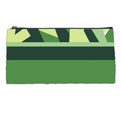 Abstract Jungle Green Brown Geometric Art Pencil Cases by CircusValleyMall