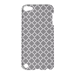 Grey Quatrefoil Pattern Apple Ipod Touch 5 Hardshell Case by Zandiepants