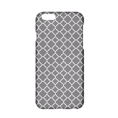 Grey Quatrefoil Pattern Apple Iphone 6/6s Hardshell Case by Zandiepants