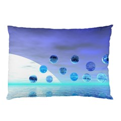 Moonlight Wonder, Abstract Journey To The Unknown Pillow Case (two Sides) by DianeClancy