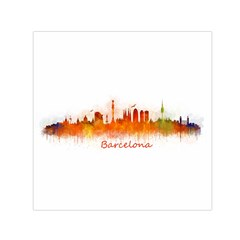 Barcelona City Art Small Satin Scarf (square) by hqphoto