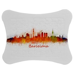 Barcelona City Art Jigsaw Puzzle Photo Stand (bow)