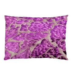 Festive Chic Pink Glitter Stone Pillow Case (two Sides) by yoursparklingshop