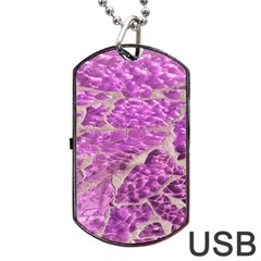 Festive Chic Pink Glitter Stone Dog Tag Usb Flash (two Sides)  by yoursparklingshop