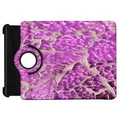 Festive Chic Pink Glitter Stone Kindle Fire Hd Flip 360 Case by yoursparklingshop