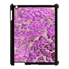 Festive Chic Pink Glitter Stone Apple Ipad 3/4 Case (black) by yoursparklingshop
