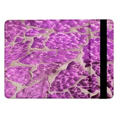 Festive Chic Pink Glitter Stone Samsung Galaxy Tab Pro 12.2  Flip Case by yoursparklingshop
