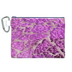 Festive Chic Pink Glitter Stone Canvas Cosmetic Bag (xl)  by yoursparklingshop